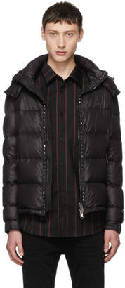 Valentino Black Rockstud Untitled Down Jacket