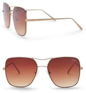 Quay Stop & Stare 56mm Navigator Sunglasses