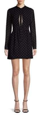 Alexis Leila Tie Neck Mini Dress