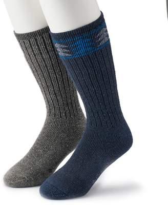 Columbia Men's 2-pack Patterned Wool-Blend Boot Crew Socks