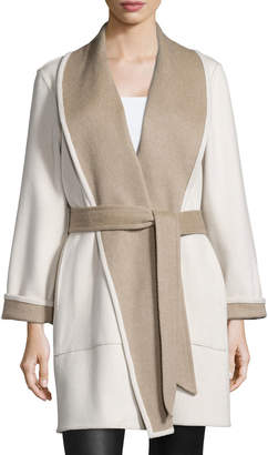 Sofia Cashmere Reversible Double-Face Wrap Coat