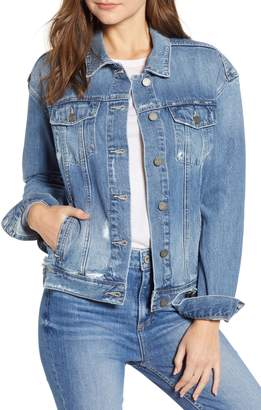 Paige Josephine Sequin Rose Denim Jacket