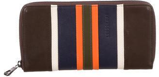 LongchampLongchamp Striped Leather Wallet