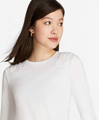Brooks Brothers Floral-Embroidered Long-Sleeve T-Shirt
