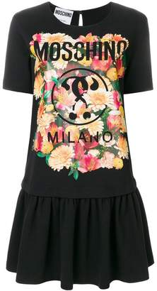 Moschino printed drop waist T-shirt dress