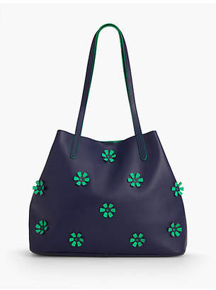 Talbots Plano All-Over Flower Tote