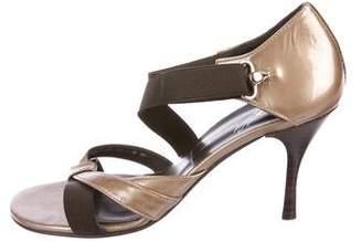 Donald J Pliner Patent Leather Multistrap Sandals