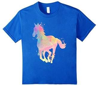 Horse Watercolor Splash Animal Lover T-Shirt