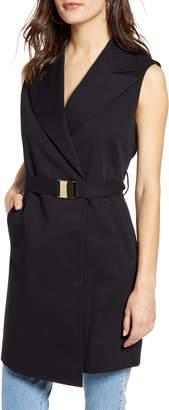Topshop Belted Sleeveless Blazer Dress