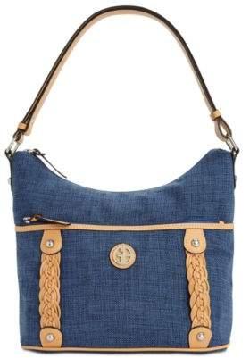 Giani Bernini Braided Linen Hobo, Created for Macy's