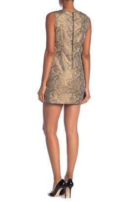 Alice + Olivia Clyde Metallic A-Line Shift Dress