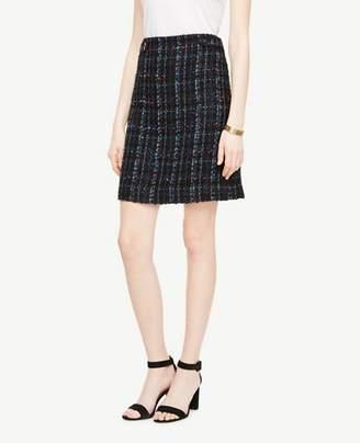 Ann Taylor Petite Tweed Button Tab Skirt