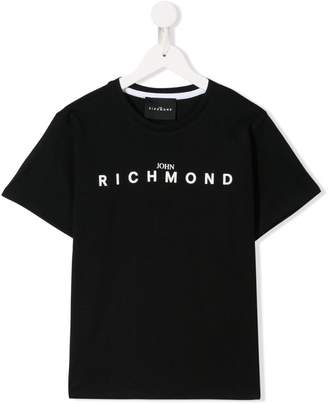 John Richmond Junior logo printed T-shirt