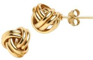 Lord & Taylor 18K Gold Over Sterling Silver Knot Stud Earrings