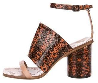 Maison Margiela Embossed Ankle-Strap Sandals