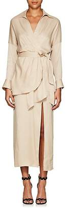 MANNING CARTELL Women's Twill Wrap Midi-Shirtdress - Neutral