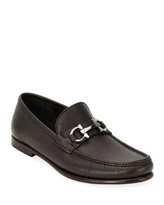 Salvatore Ferragamo Men's Textured Leather Gancini Loafer