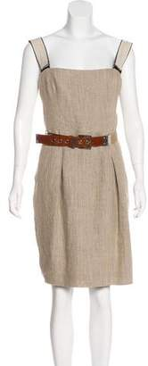 Dolce & Gabbana Belted Linen Dress
