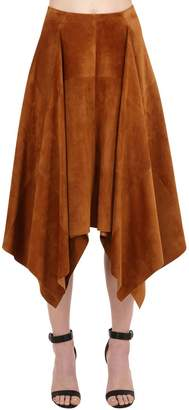 Salvatore Ferragamo Suede Skirt