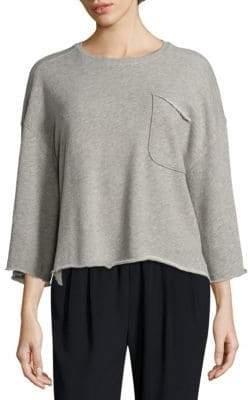 ATM Anthony Thomas Melillo Oversized Marble Sweatshirt