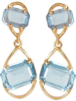 Oscar De La Renta Crystal Teardrop Earrings