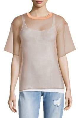 MSGM Sheer T-Shirt Top