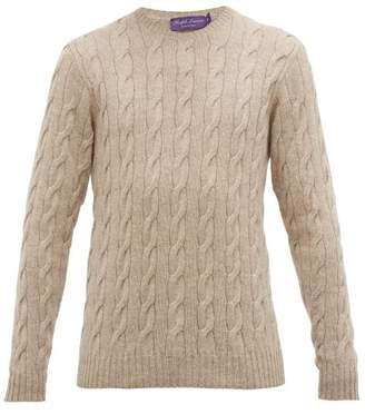 Ralph Lauren Purple Label Cable Knit Cashmere Sweater - Mens - Grey