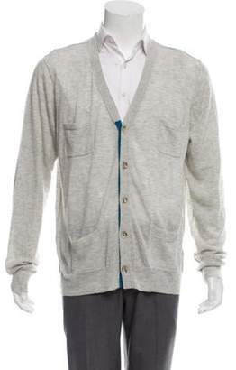 3.1 Phillip Lim Colorblock V-Neck Cardigan grey Colorblock V-Neck Cardigan