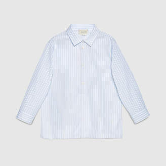 Gucci Children's striped poplin shirt
