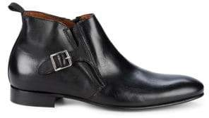Buckled Leather Chelsea Boots