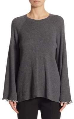 Elizabeth and James Georgine Ruffle Hem Sweater