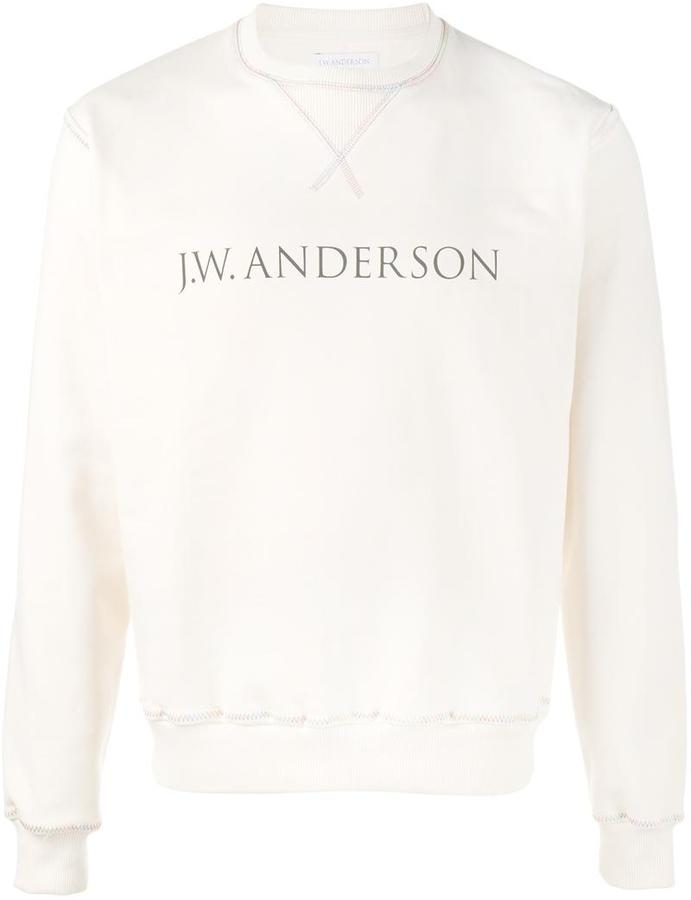 J.W.Anderson - rainbow stitch logo jumper - men - Cotton - XS