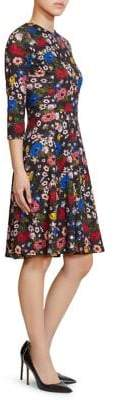 Erdem Dione Jersey Fit-&-Flare Dress