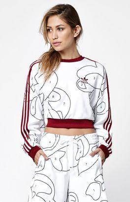 adidas x Rita Ora Cropped Crew Neck Sweatshirt $60 thestylecure.com