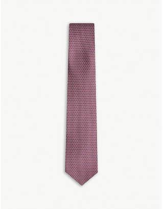 Salvatore Ferragamo Pencil-print silk tie