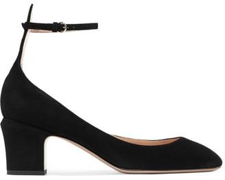 Valentino - Tango Suede Pumps - Black $795 thestylecure.com