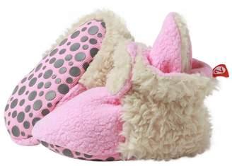 Zutano Unisex Baby Fleece w/Furry Baby Booties w/Grippers,12M,Hot Pink Furry