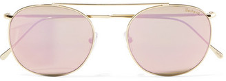 Illesteva - Mykonos Aviator-style Gold-tone Mirrored Sunglasses - one size $180 thestylecure.com