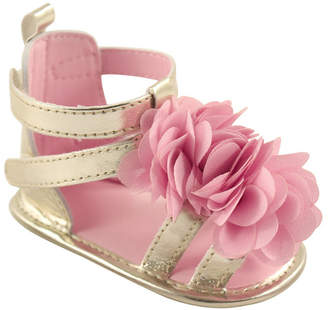 Baby Vision Luvable Friends Gladiator Sandals, Pink Flower, 0-18 Months