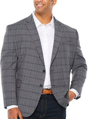 STAFFORD Stafford Year Round Stretch Classic Fit Grid Sport Coat Big and Tall
