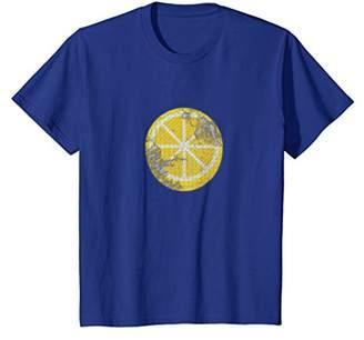 Retro Lemon T-shirt Vintage Style Citrus Fruit Gift Tee