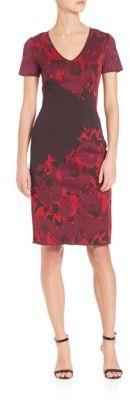 St. John Printed Sheath Dress $1,095 thestylecure.com