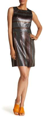 Derek Lam 10 Crosby Metallic Stripe Shift Dress