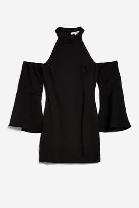 **Over It - Black Cold Shoulder Dress by WYLDR