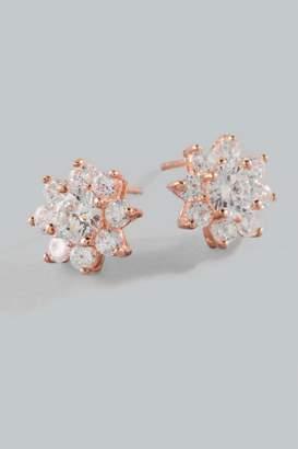 francesca's Lennon Sterling Flower Earrings - Rose/Gold