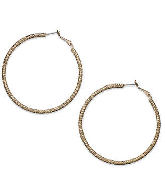 Thalia Sodi Gold-Tone Large Textured Hoop Earrrings