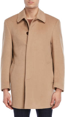 Lauren Ralph Lauren Camel Single-Breasted Overcoat