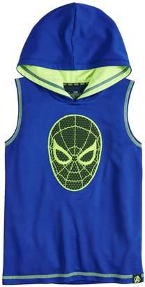 Spiderman Boys 4-10 Marvel Hero Elite Series Avengers Infinity Wars Collection for Kohl's Mesh Hooded Tank Top