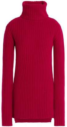 Ann Demeulemeester Ribbed Wool And Cashmere-Blend Turtleneck Sweater