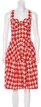 Samantha Sung A-Line Pleated Wool Dress